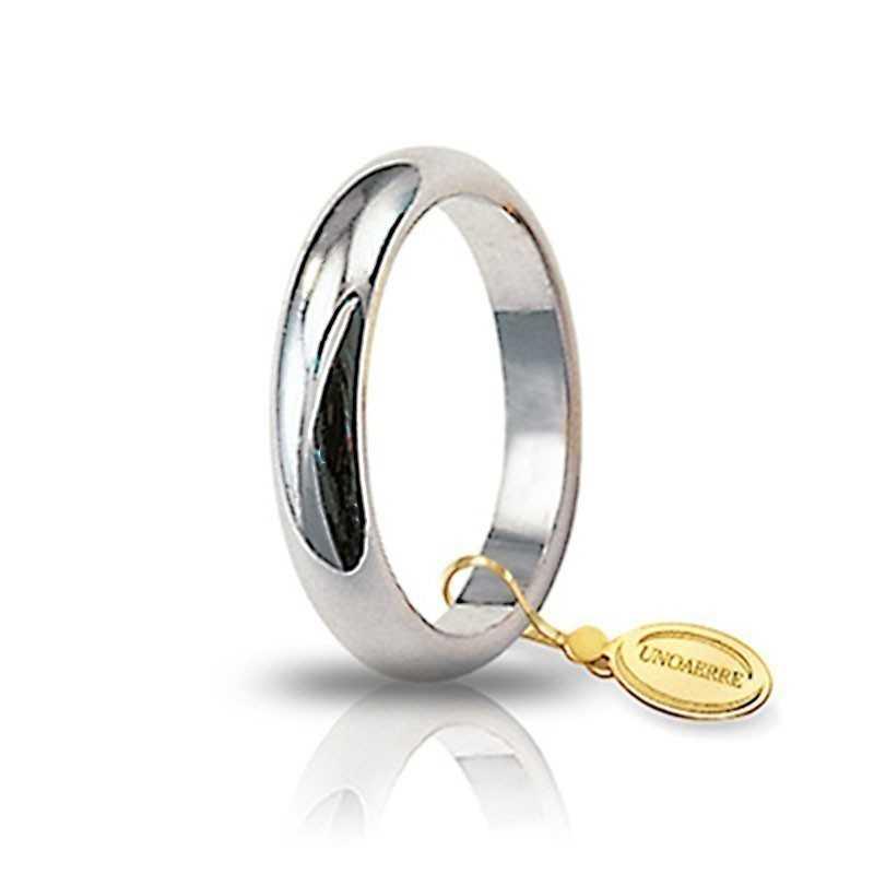 Fede classica unoaerre 60AFN1B bianca Unoaerre Italian jewellery Fedi Classiche 60AFN1B