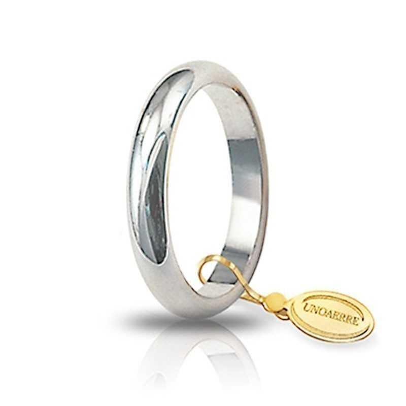 Fede classica unoaerre 50AFN1B bianca Unoaerre Italian jewellery Fedi Classiche 50AFN1B
