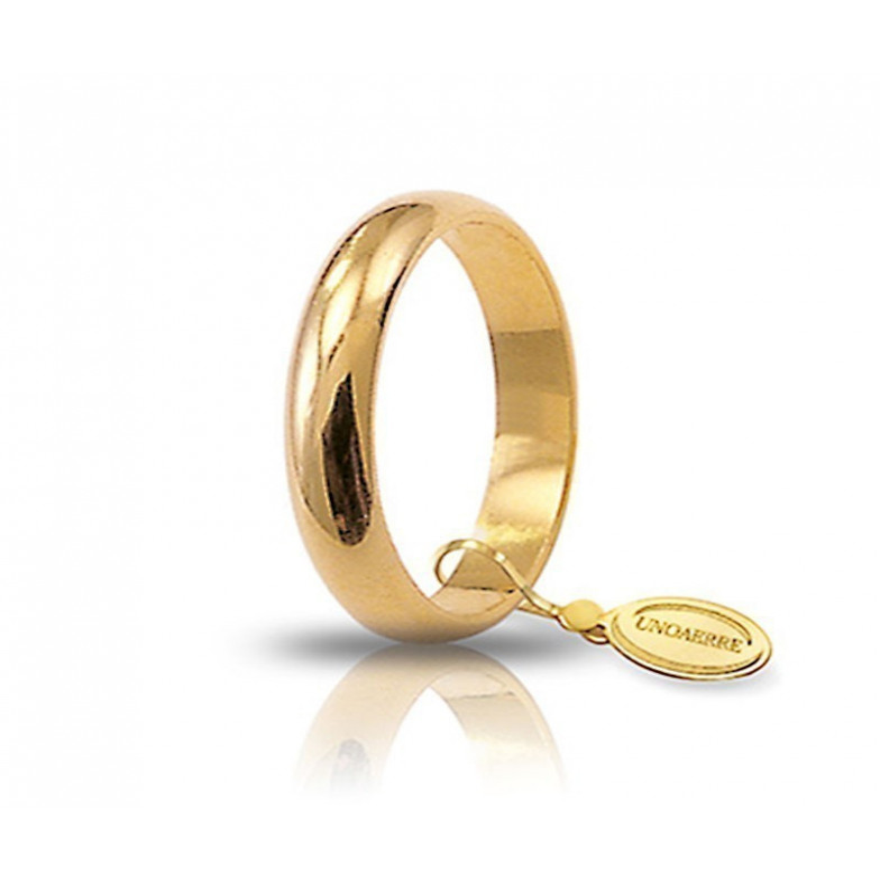 Fede classica unoaerre 50AFN1G Unoaerre Italian jewellery Fedi Classiche 50AFN1G