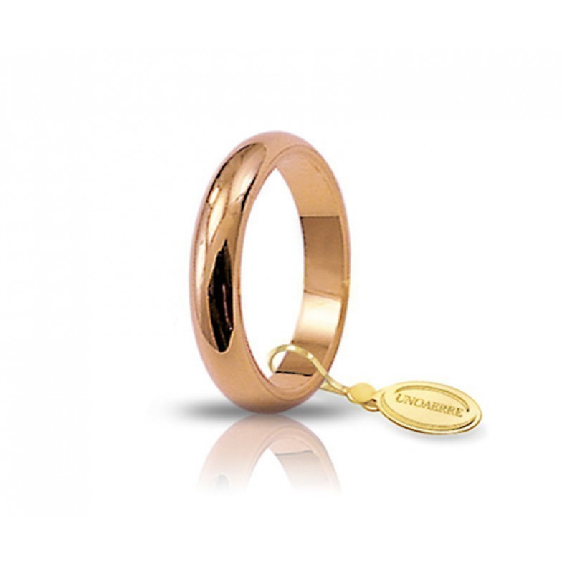 Fede classica unoaerre 40AFN4 rosa Unoaerre Italian jewellery Fedi Classiche 40AFN4