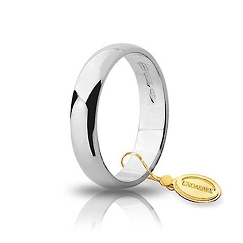 Fede classica unoaerre 40AFN6B bianca Unoaerre Italian jewellery Fedi Classiche 40AFN6B