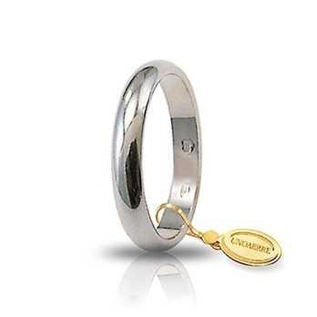 Fede classica unoaerre 40AFN1B bianca Unoaerre Italian jewellery Fedi Classiche 40AFN1B