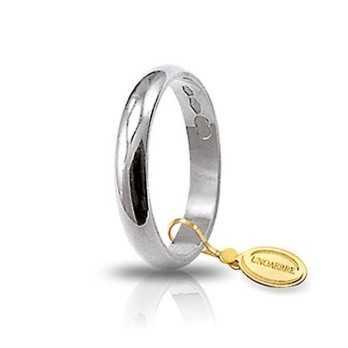Fede classica unoaerre 30AFN1B bianca Unoaerre Italian jewellery Fedi Classiche 30AFN1B
