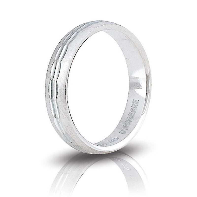 Fedina unoaerre in argento AF288 Unoaerre Silver jewellery Fedine in Argento 1R-AF288