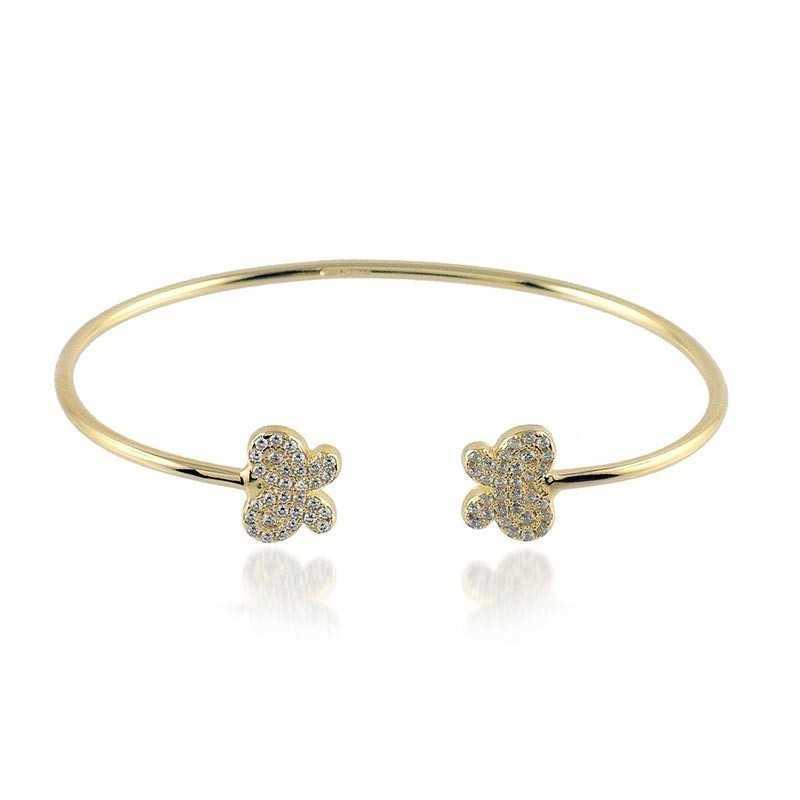 Bracciale rigido in argento dorato con farfalle Byblos jewels Bracciali Donna BB-9216