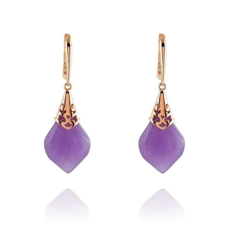 Orecchini in argento rosa con pietra viola Byblos jewels Orecchini Donna BB-9009