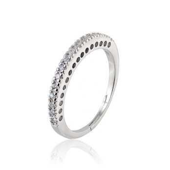 Anelli Donna Anello veretta in argento 16 pietre Puca Jewels