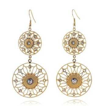 Orecchini pendenti in bronzo dorato Byblos jewels Promozioni BB-9364O