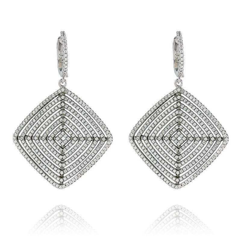 Orecchini a rombo in argento a pavè Byblos jewels Orecchini Donna BB-9209