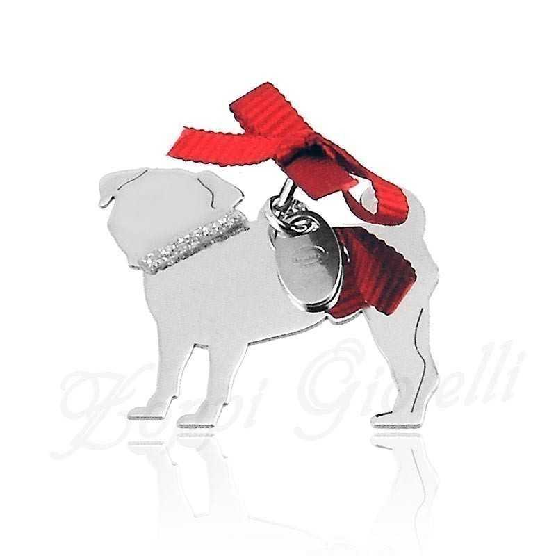 Ciondolo Cane Carlino Unoaerre Silver jewellery Happy Pets 1R-AG1006