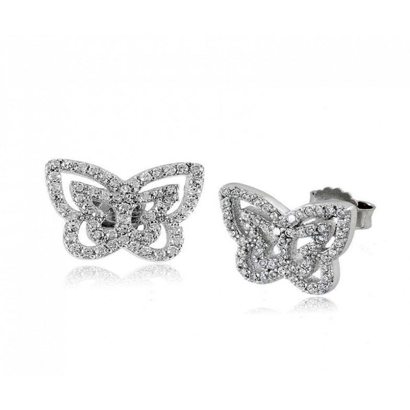 Orecchini toppe farfalla sfaccettata Puca Jewels Orecchini Donna MP-AG7OR/F