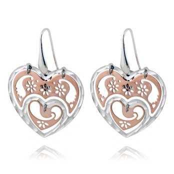 Orecchini pendenti a cuore in argento bicolore Puca Jewels Orecchini Donna PJ-AG165OR
