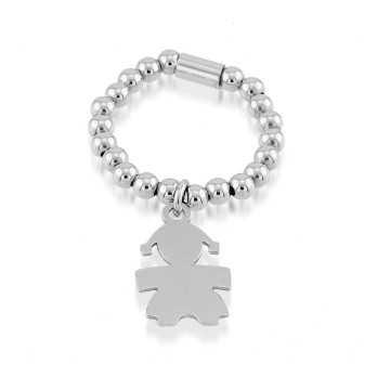 Anelli Donna Anello elastico con bebè in argento Puca Jewels
