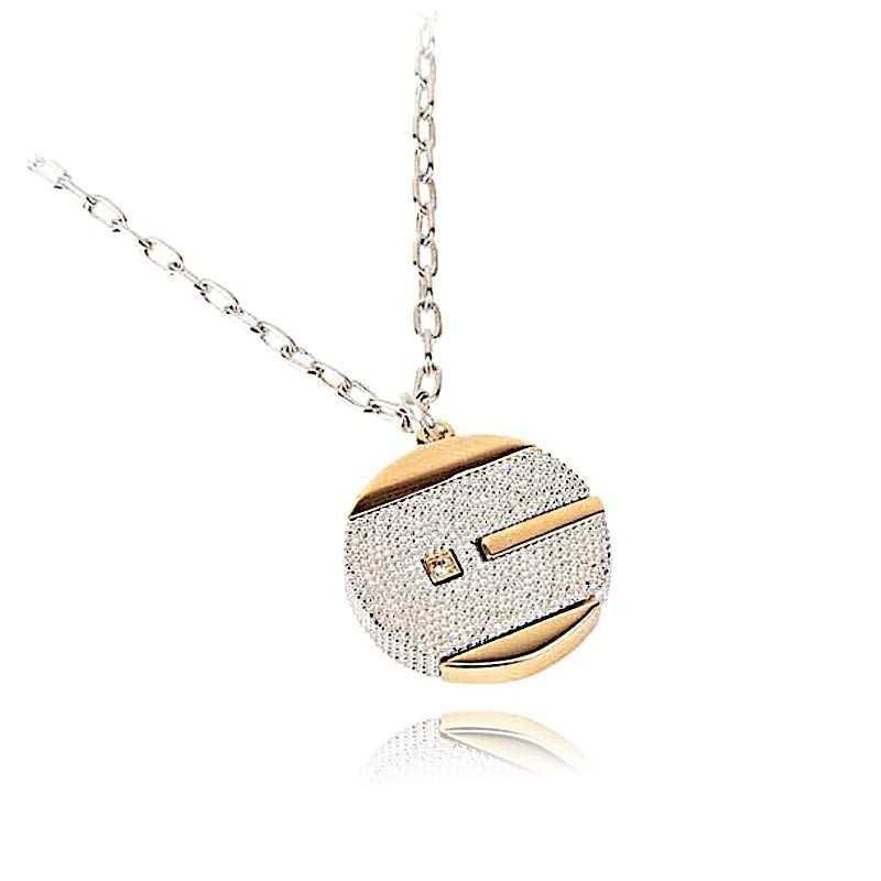 Collane Uomo Collana con scudo in acciaio bicolore Byblos - Blumen jewels