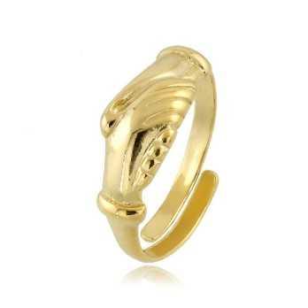 Anelli Anello con mani s.Rita in argento dorato Alexia Gioielli