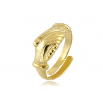 Anello con mani s.Rita in argento dorato  Anelli religiosi RBAN90AGG