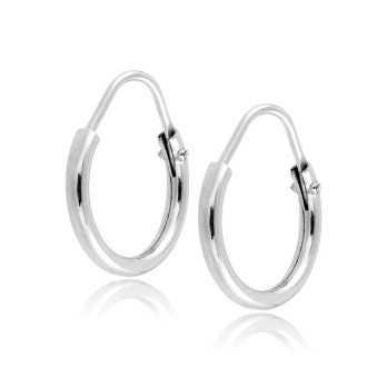 Orecchini cerchio piccolo in oro bianco Zoppi Gioielli jewelry Home ORB160AUB