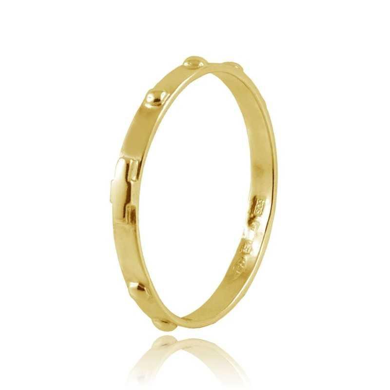 Anello a rosario in oro giallo Zoppi Gioielli jewelry Anelli religiosi ANR10AUG