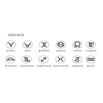 Collana personalizzabile con zodiaco (12mm) Osa Name Collection 39,00€
