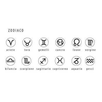 Bracciale semirigido con zodiaco (9mm)