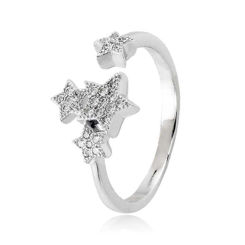 Home Anello con stelle in argento e swarovski Osa jewels