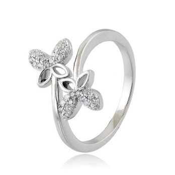 Anello con Farfalle in argento e swarovski Osa jewels Anelli Donna OSA6454