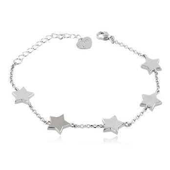 Bracciali Donna Bracciale donna con stelle in argento Osa jewels