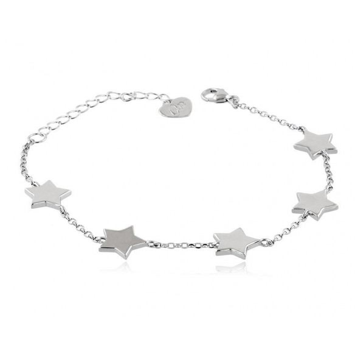 Bracciale donna con stelle in argento