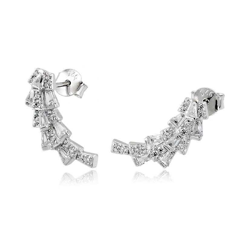 Orecchini Donna Orecchini curvi in argento e swarovski Osa jewels