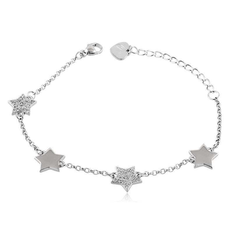 Bracciali Donna Bracciale con stelle in argento e swarovski Osa jewels