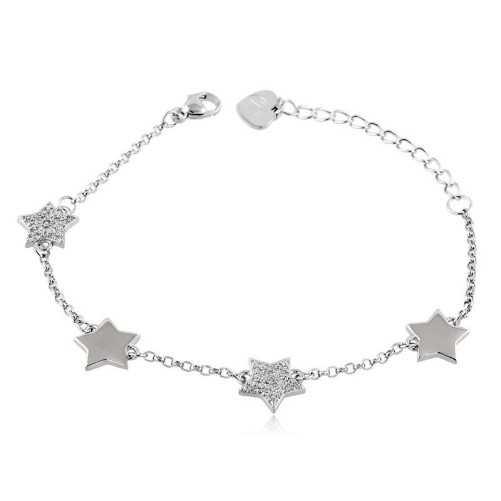 Bracciale con stelle in argento e swarovski