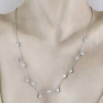 Collana con ciondoli in Argento e Swarovski Osa jewels Collane Donna OSA6468