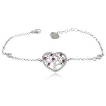Bracciali Donna Bracciale Cuore albero dell'amore in argento Osa jewels