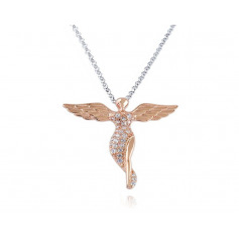Collana Angelo in argento rosa e swarovskiOsa jewels Collane Donna 55,00€ OSA6438R