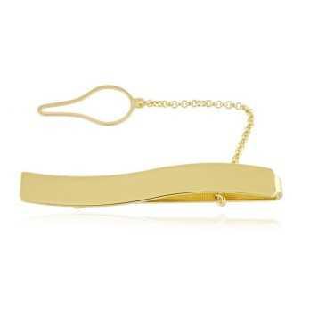 Fermacravatta a onda in argento dorato Alexia Gioielli Accessori Uomo FC160AGO