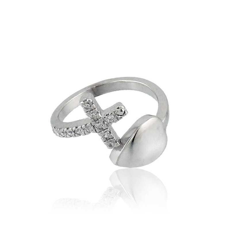 Anello unoaerre notre dame Unoaerre Silver jewellery Anelli religiosi 1R-AG795