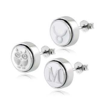 Orecchini personalizzabili con iniziali (9mm) Osa Name Collection 39,00€