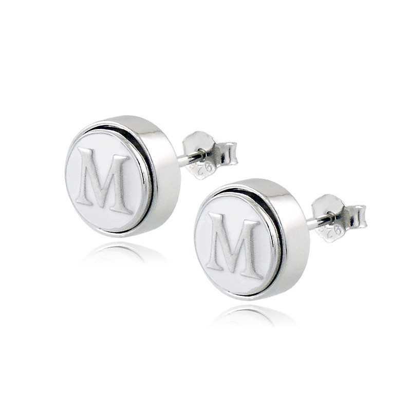 Osa Name Collection Orecchini personalizzabili con iniziali (9mm) Osa jewels