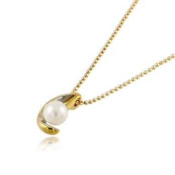 Collana in oro giallo con perla 6mm  Collane perle NH450AUP6