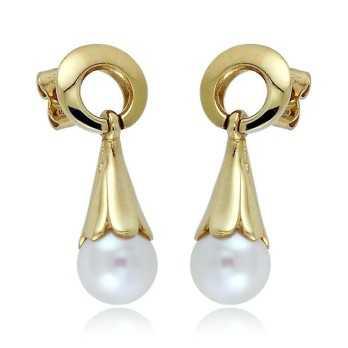 Orecchini pendenti in oro con perle 8mm Zoppi Gioielli jewelry Orecchini Perle NH680AUP8