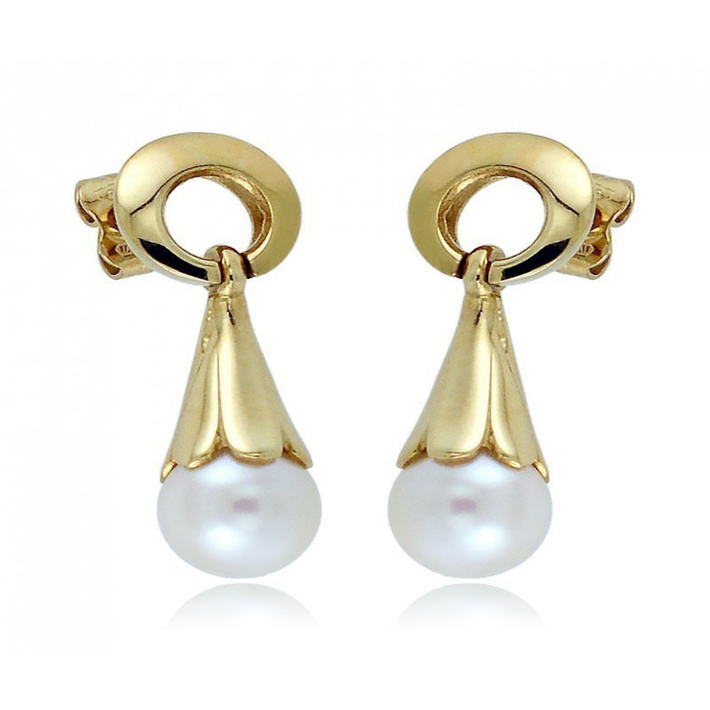 Orecchini Perle Orecchini pendenti in oro con perle 8mm Zoppi Gioielli