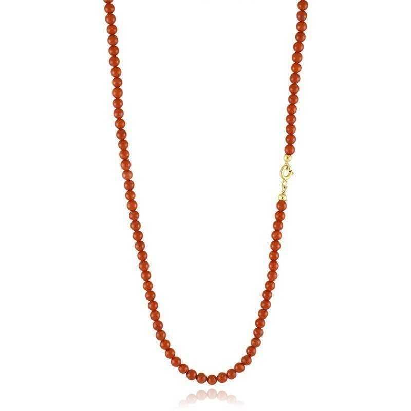 Gioielli con Perle Collana di corallo 3,5 mm chiusura in oro Zoppi Gioielli