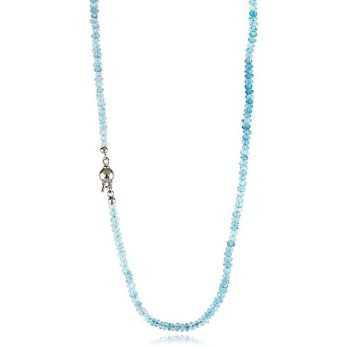 Girocollo di acquamarina 3,5 mm con susta in oro Zoppi Gioielli jewelry Collane perle CLA73AU35