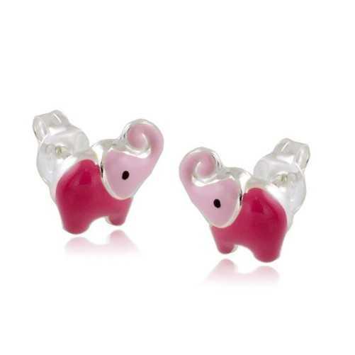 Orecchini bimba con elefantino rosa