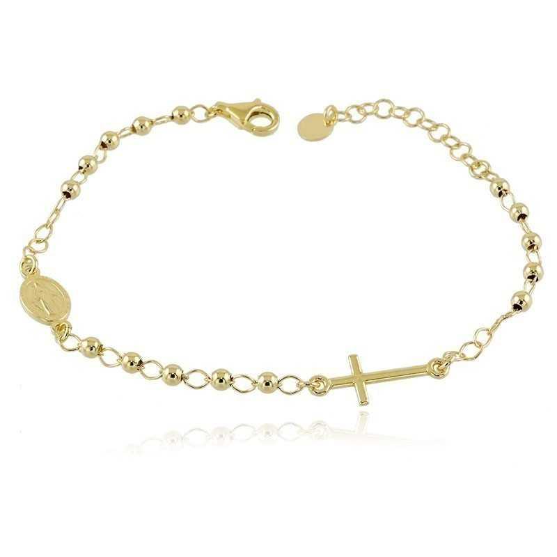 Bracciale a rosario argento dorato Alexia Gioielli Bracciali religiosi RB-BR120AGRG