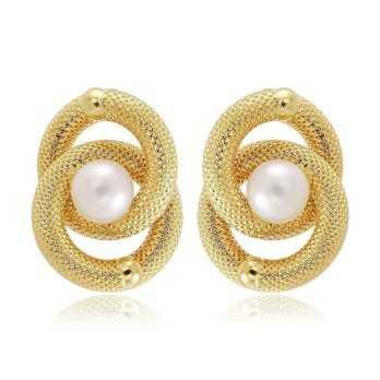 Orecchini Donna Orecchini unoarre in oro con perle Unoaerre Italian jewellery