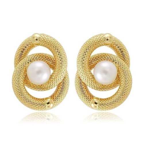 Orecchini unoarre in oro con perle
