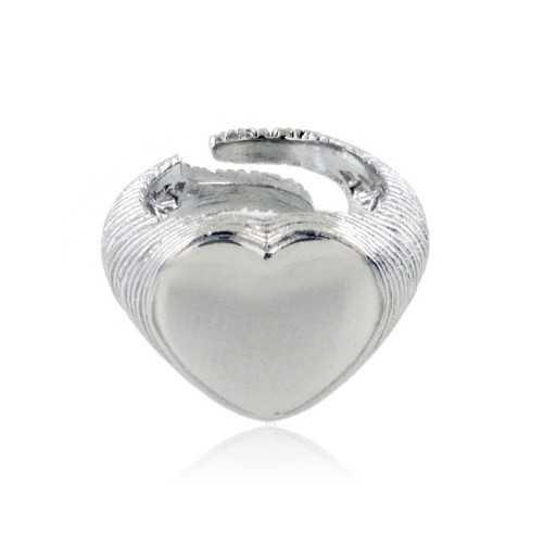 Anello a cuore in argento 925