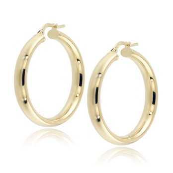 Orecchini Donna Orecchini cerchio in argento dorato Alexia Gioielli