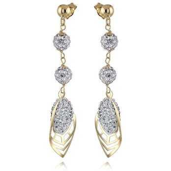 Orecchini pendenti a foglia in oro 18kt Zoppi Gioielli jewelry Orecchini Donna OR250AUG